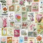 1_Purldeco Flower Stamps Wallpaper