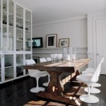 trestle table tulip chairs dcrisis